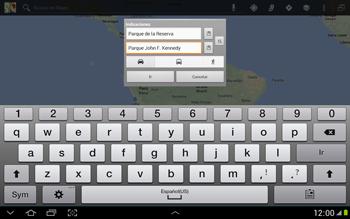 Uso de la navegación GPS - Samsung Galaxy Note 10-1 - N8000 - Passo 16