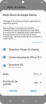 Modo de ahorro de batería - Samsung Galaxy S20 - Passo 7