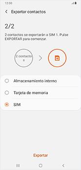 ¿Tu equipo puede copiar contactos a la SIM card? - Samsung Galaxy A10 - Passo 11
