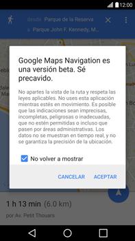 Uso de la navegación GPS - LG G4 - Passo 20