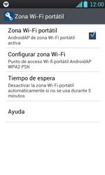 Configura el hotspot móvil - LG Optimus L7 - Passo 10