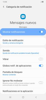 Modo silencio y vibración para mensajes - Samsung Galaxy A30 - Passo 8