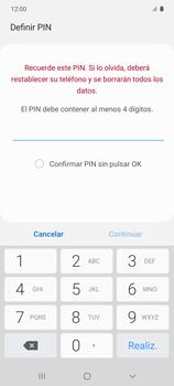 Habilitar seguridad de huella digital - Samsung Galaxy S10 Lite - Passo 7