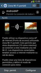 Configura el hotspot móvil - Samsung Galaxy S4 Mini - Passo 7