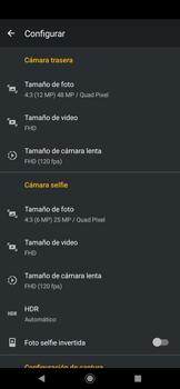 Opciones de la cámara - Motorola One Zoom - Passo 8