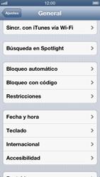 Activa o desactiva el uso del código de seguridad - Apple iPhone 5 - Passo 3