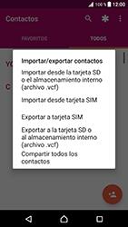 ¿Tu equipo puede copiar contactos a la SIM card? - Sony Xperia XZ Premium - Passo 6