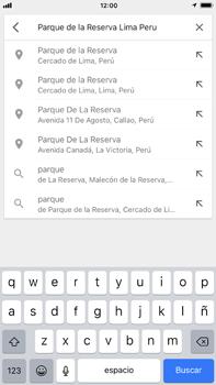 Uso de la navegación GPS - Apple iPhone 8 Plus - Passo 7