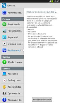 Restaura la configuración de fábrica - Samsung Galaxy Tab 3 7.0 - Passo 6