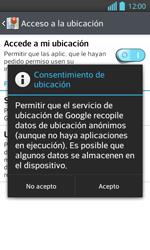 Uso de la navegación GPS - LG Optimus L 7 II - Passo 7