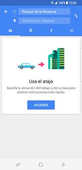 Uso de la navegación GPS - Samsung Galaxy S8 - Passo 12
