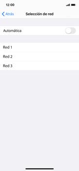 Cómo seleccionar una red en tu teléfono manualmente - Apple iPhone XS - Passo 6