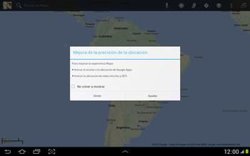 Uso de la navegación GPS - Samsung Galaxy Note 10-1 - N8000 - Passo 4