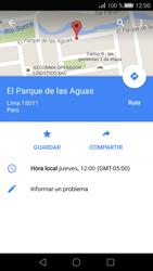 Uso de la navegación GPS - Huawei P8 - Passo 9