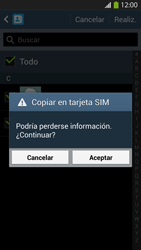 ¿Tu equipo puede copiar contactos a la SIM card? - Samsung Galaxy S4  GT - I9500 - Passo 9