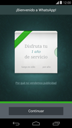 Configuración de Whatsapp - Motorola Moto E (1st Gen) (Kitkat) - Passo 9