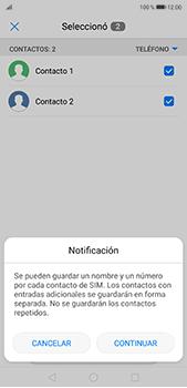 ¿Tu equipo puede copiar contactos a la SIM card? - Huawei P20 Pro - Passo 8