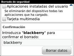 Restaura la configuración de fábrica - BlackBerry Curve 9320 - Passo 8