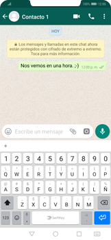 Usar WhatsApp - Huawei Mate 20 Pro - Passo 7