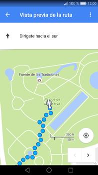 Uso de la navegación GPS - Huawei Mate 8 - Passo 17