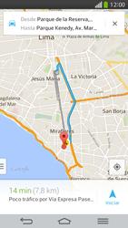 Uso de la navegación GPS - LG G Flex - Passo 16