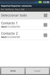 ¿Tu equipo puede copiar contactos a la SIM card? - Motorola MotoSmart Me  XT303 - Passo 9