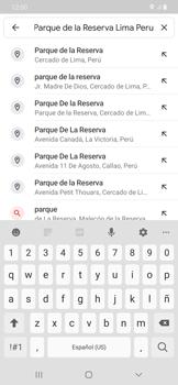 Uso de la navegación GPS - Samsung Galaxy A50 - Passo 8