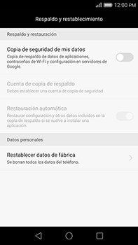 Restaura la configuración de fábrica - Huawei G8 Rio - Passo 4