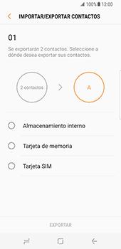 ¿Tu equipo puede copiar contactos a la SIM card? - Samsung Galaxy S8 - Passo 9