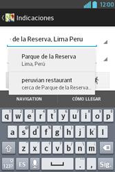 Uso de la navegación GPS - LG L4 II - Passo 13