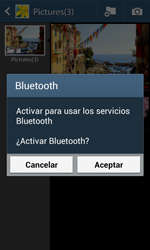 Transferir fotos vía Bluetooth - Samsung Galaxy Trend Plus S7580 - Passo 11