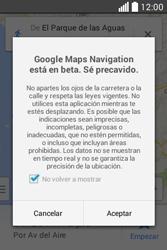 Uso de la navegación GPS - LG L40 - Passo 19