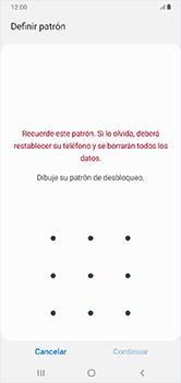 Desbloqueo del equipo por medio del patrón - Samsung Galaxy A10 - Passo 7