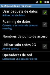 Desactiva tu conexión de datos - Samsung Galaxy Ace  GT - S5830 - Passo 5