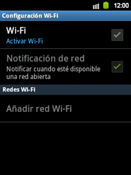 Configura el WiFi - Samsung Galaxy Y  GT - S5360 - Passo 6