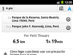 Uso de la navegación GPS - Samsung Galaxy Y Pro GT - B5510 - Passo 18