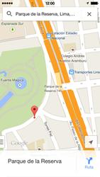 Uso de la navegación GPS - Apple iPhone 5c - Passo 14
