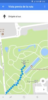 Uso de la navegación GPS - Samsung Galaxy S9 Plus - Passo 17
