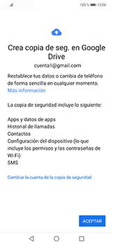 Realiza una copia de seguridad con tu cuenta - Huawei Mate 20 Lite - Passo 11