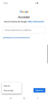 Crea una cuenta - Samsung S10+ - Passo 5