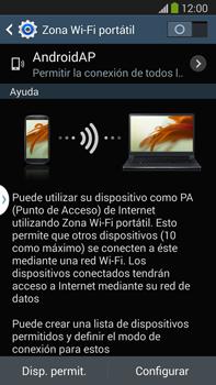 Configura el hotspot móvil - Samsung Galaxy Note Neo III - N7505 - Passo 6