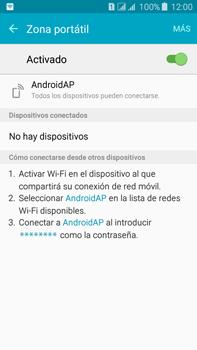 Configura el hotspot móvil - Samsung Galaxy J7 - J700 - Passo 11