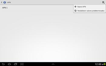 Configura el Internet - Samsung Galaxy Note 10-1 - N8000 - Passo 9