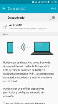 Configura el hotspot móvil - Samsung Galaxy J7 - J700 - Passo 6