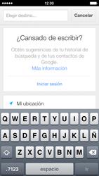 Uso de la navegación GPS - Apple iPhone 5s - Passo 16
