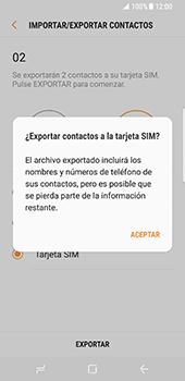 ¿Tu equipo puede copiar contactos a la SIM card? - Samsung Galaxy S8 - Passo 13