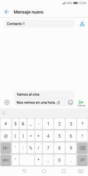 Envía fotos, videos y audio por mensaje de texto - Huawei Y7 (2018) - Passo 11