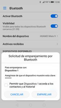 Conecta con otro dispositivo Bluetooth - Huawei Mate 9 - Passo 6