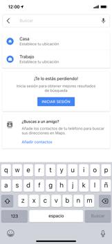 Uso de la navegación GPS - Apple iPhone XS Max - Passo 9