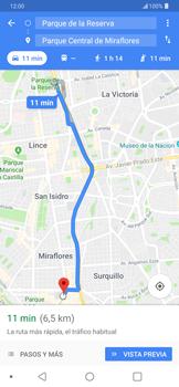 Uso de la navegación GPS - LG G7 ThinQ - Passo 14
